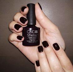 Trendy Ideas for shellac nails cnd dark Shellac Nail Colors, Shellac Nails, Gel Nail Art, Nail Polish, Dahlia Flower Tattoos, Dahlia Care, Dark Nails, Silver Nails, How To Do Nails