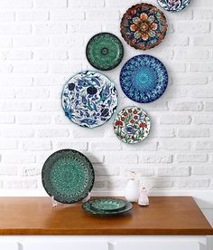 vintage china plate wall deco