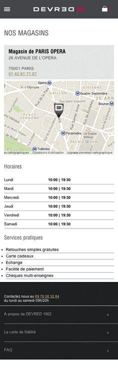 #AXANCE - #Devred #Mobile site #design - #Shop Page - #Map