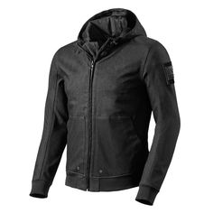 REV'IT Stealth Hoodie - Black | Motorcycle Clothing | FREE UK delivery - The Cafe Racer