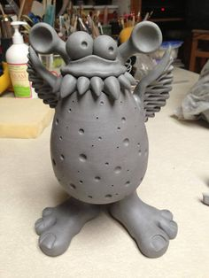 Monsters and aliens...CREATURE smooth clay then add texture or pattern details