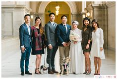 A wedding suit for a dog. San Francisco City Hall Documentary Wedding Photographer - Hazel Photo Weddings