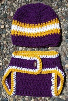 33d29264737 Baby Boy Crochet Football Themed Inspired Diaper Cover  Set-Featuring-Striped Hat-Diaper Cover With Football Button-Size  0 3mo-3 6mo-6 12mo