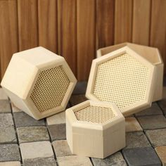 Hexagon Wood Box Set