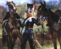 """""""Uhlan with Two Horses"""", c. oil on panel, x 58 cm, private collection Napoleon, Two Horses, Kaito, Art History, Van, Superhero, Portrait, Poland, Russia"""