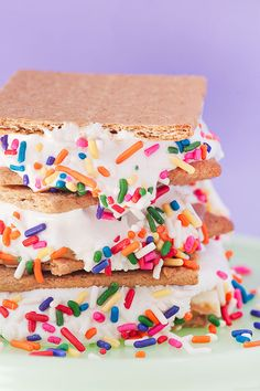 Peanut Butter White Chocolate Confetti S'mores make with homemade mallows