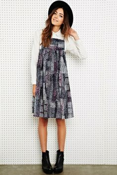Little White Lies Donna Summer Printed Dress at Urban Outfitters by DaisyCombridge