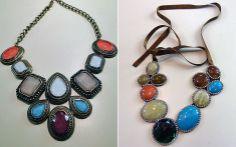 Os colares de pedras coloridas foscas são poderosos e continuam com tudo para a temporada outono/inverno!