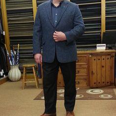 Blue Donegal tweed jacket #kellymenswear #irishfashion #donegaltweed #menswear #tweed #shop #jacket #longford #fashion Irish Fashion, Mens Fashion, Donegal, Tweed Jacket, Menswear, Pants, Jackets, Blue, Shopping