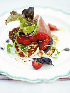 strawberry salad with speck & halloumi | Jamie Oliver | Food | Jamie Oliver (UK)