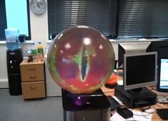 super cool...DIY eyeball that follows you around the room...Looks like the eye of Sauron.