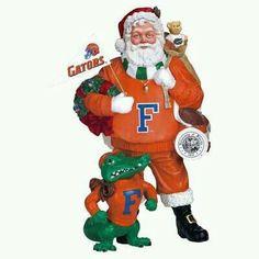 I never realized how much i loved Santa until now:) College Football, Gator Football, Santa Figurines, University Of Florida, Florida Gators, Football Season, Christmas Holidays, Christmas Ideas, Christmas Crafts