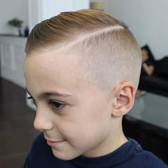 Comb Over with Hard Part and Skin Fade