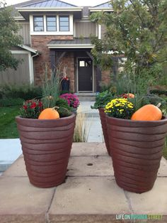 Fall Planters - Life On Virginia Street