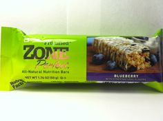 Crazy Food Dude Review: Zone Perfect Fruitified Blueberry Bar