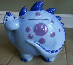 Vintage Treasure Craft Cookie Jar Dinosaur