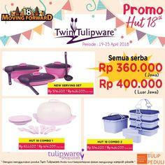 3 M - Promo HUT Twin Tulipware ke-18 tahun 2018. Semua serba harga Rp.360.000,-   3 M - Murah | Meriah | Mantap      #tulipware #twintulipware #tulipwaremurah #tulipshop   www.twintulipwareindonesia-tambun.com