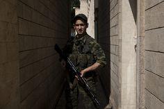 Pro-Russian rebel in Donetsk (Ukraine)