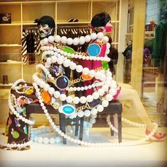 "MOSCHINO, Via della Spiga,  Milan, Italy, ""It's All Tied Up...."", photo by…"
