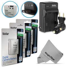 3x EN-EL14a Batteries + Charger for Nikon D5500 D5300 D5200 D3300 D3200 D3100