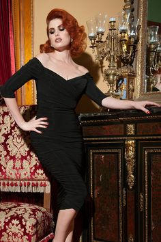 50s Monica Dress in Black from Laura Byrnes Black Label 3c22d341d63a