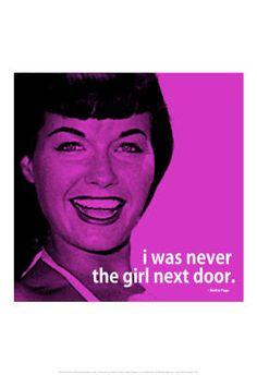 Bettie Page Girl Next Door iNspire 2 Quote Poster - 13x19 $5.80 #bettiepage #retro #poster #pinup