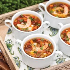 This Shrimp and Tasso Soup is bursting with classic Cajun flavors.