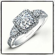 Sharp and sophisticated princess cut diamond ring Natalie k