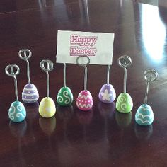 Easter egg photo or name card holders