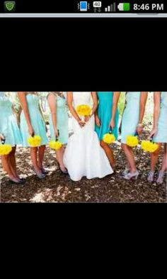 Great colors for an outdoor summer wedding