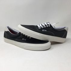 c83baf5156 VANS ERA 59 VINTAGE SPORT VN0003S4IL2 BLACK WHITE MENS US SIZE 10 UK 9 NEW  WOB