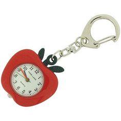 Park Lane Teacher Assistant Red Apple Keying Clock Watch Plkr49
