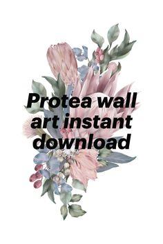 Wall Art Decor, Nursery Decor, Large Paper Flowers, File Format, Flower Designs, Berries, Blues, Bouquet, Monogram