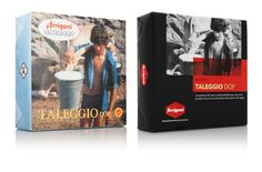 Arrigoni, Rebranding. The image of the Taleggio DOP, an iconic product for Arrigoni, before and after the restyling.