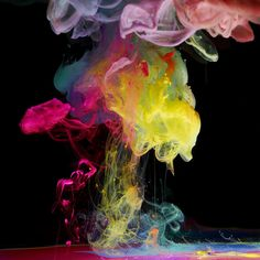 What's better than #ink #art in water? These brightly colored neon versions! Check them out >