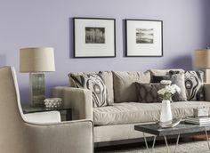 Living Room In Mineral Violet