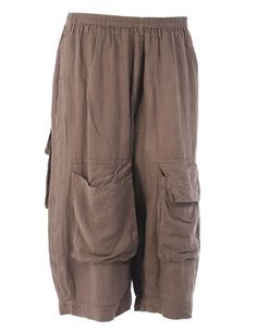 Grizas  Wide linen trousers << wouldn't need a handbag