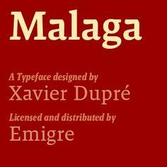 Malaga Font Family #typography