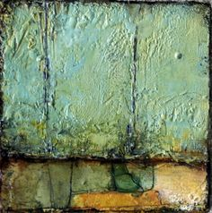 What Is Encaustic Painting Technique | encaustic and paper on panel: 6x6