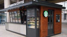 How much this kiosk Wayne manufacturing site Container Coffee Shop, Container Shop, Container Design, Small Coffee Shop, Coffee Shop Design, Kiosk Design, Cafe Design, Truck Design, Signage Design