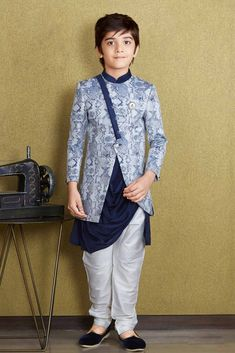 b71e5a672 Top Trends of Boys Wedding Indowestern Outfits