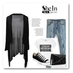 """""""SheIn"""" by abecic ❤ liked on Polyvore featuring Cheap Monday, Converse, women's clothing, women's fashion, women, female, woman, misses and juniors"""