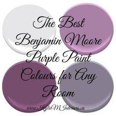 The Best Benjamin Moore Purple Paint Colours (and undertones) the best most popular benjamin moore purple paint colours for any room in your home Color Mauve, Purple Paint Colors, Interior Paint Colors, Wall Colors, House Colors, Purple Wall Paint, Behr Colors, Purple Bedrooms, Bedroom Colors