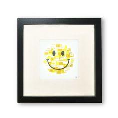 top3 by design - Jane Garrett Designs - smile paper art black frame