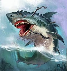 Illustration about Huge evil monster shark in the open sea. Illustration of life, scary, great - 73507438 Shark Pictures, Shark Photos, Underwater Art, Underwater Creatures, Fantasy Creatures, Sea Creatures, Monster Shark, Cute Baby Monkey, Dinosaur Images