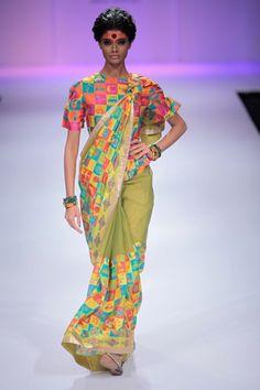 Aeroplanes and cellphones merge on Deepika Govind's saris- Vogue India