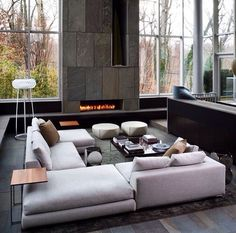 27 mesmerizing minimalist fireplace ideas for your living room - Modern Living Room Furniture