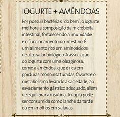 Iogurte + amêndoas