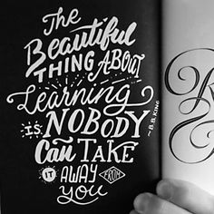 BB KING Quote about learning. Lettering by Ian Barnard.