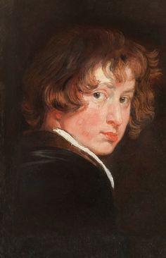 PINTURA ::: Pigmentos - Autorretrato de Anton Van Dyck. Color tierra de Colonia o Tierra de Kassell. En Inglaterra marrón Vandyke.